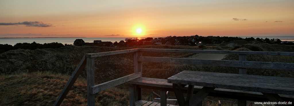 Sonnenaufgang Aussichtsdüne Amrum