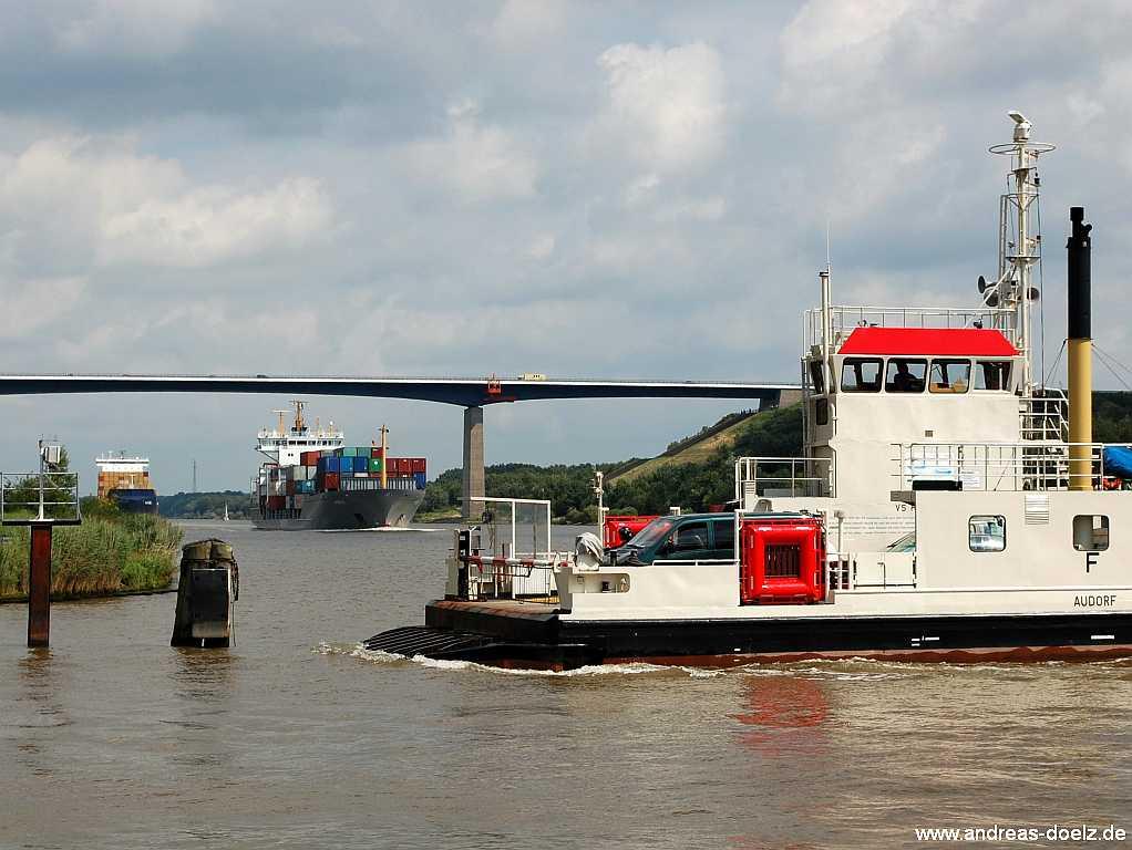 Anfahrt zum Fährhafen Dagebüll
