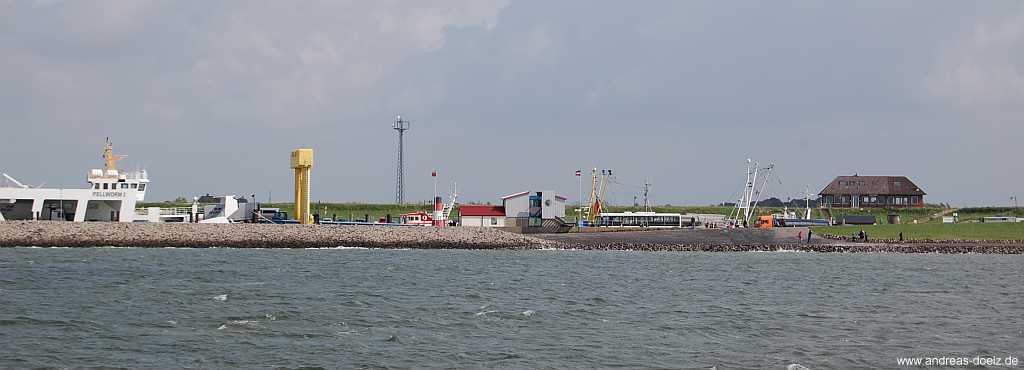 Verbindung mit dem Schiff nach Amrum ab Nordstrand