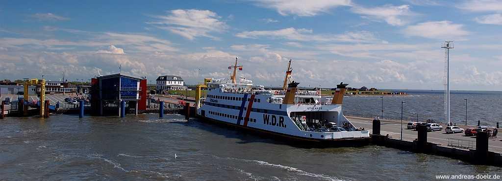 alte W.D.R.-Fährschiffe zwischen Dagebüll und Wittdün auf Amrum