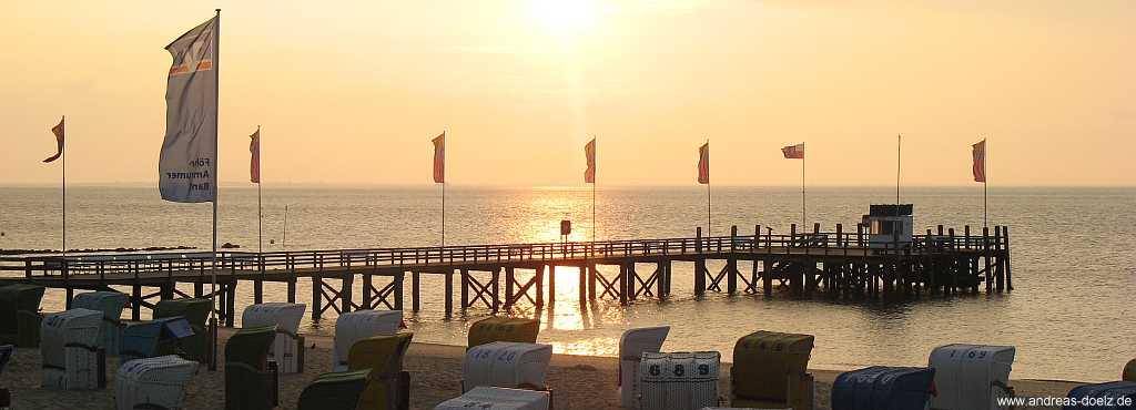 Sonnenaufgang am Sandwall in Wyk auf Föhr