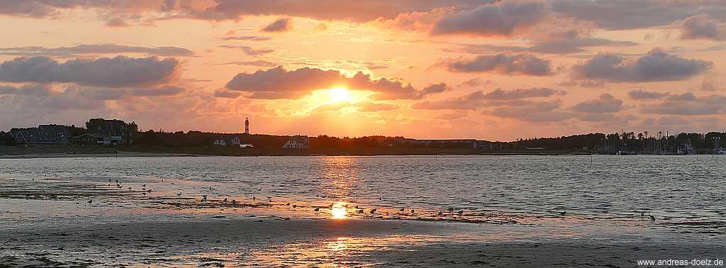 Sonnenuntergang Watt-seite Wittdün Amrum