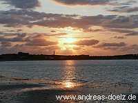 Insel Orte Sonnenuntergang Wittdün Amrum