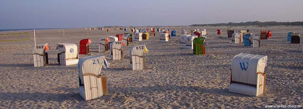 Kniepsand von Amrum: Morgenstimmung am Strand