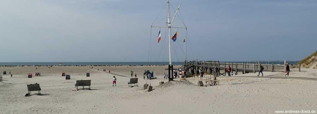 Kniepsand: der Strand bei Norddorf auf Amrum