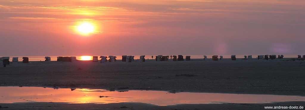 Kniepsand von Amrum: Sonnenuntergang am Strand