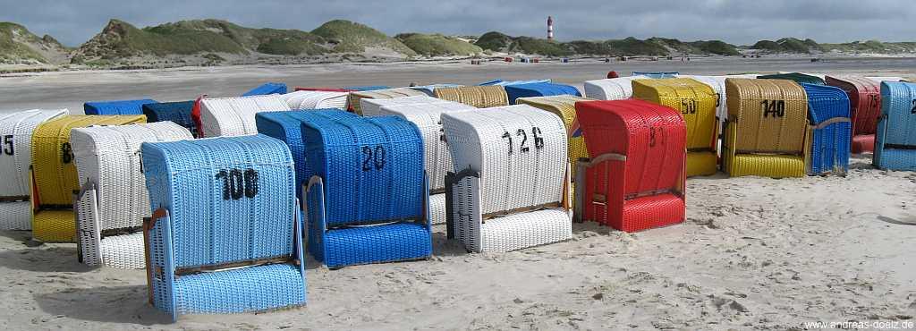 Strandkörbe am Kniepsand von Amrum