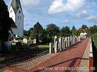 Wahrzeichen Friedhof St. Clemens-Kirche Nebel Amrum