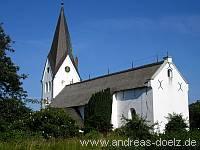 Wahrzeichen St. Clemens Kirche Nebel Amrum