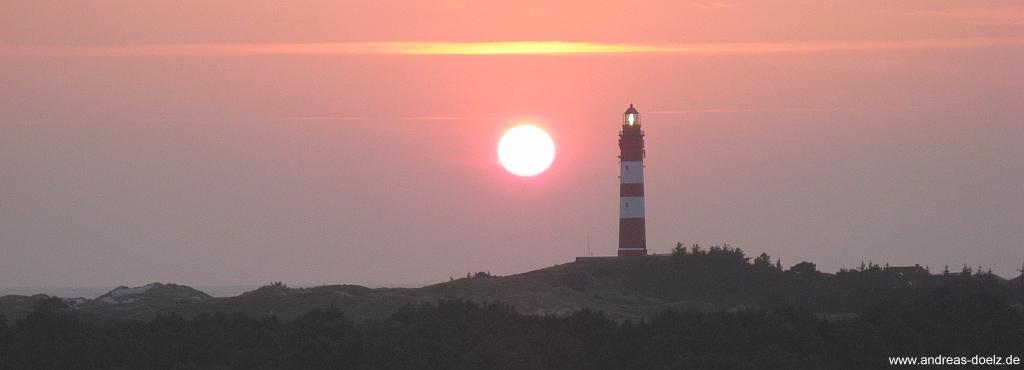Sonnenuntergang beim Leuchtturm von Amrum