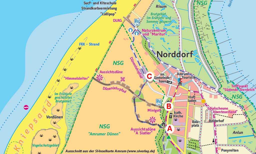 Karte Sylt Amrum.Bohlenwege Durch Die Dünen Von Amrum