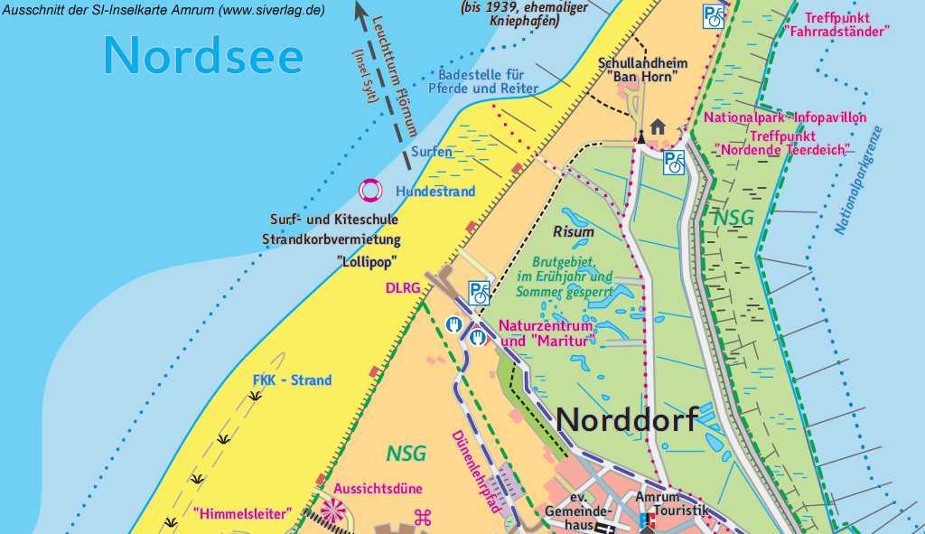 Karte Sylt Amrum.Der Strand Bei Norddorf Am Kniepsand Von Amrum