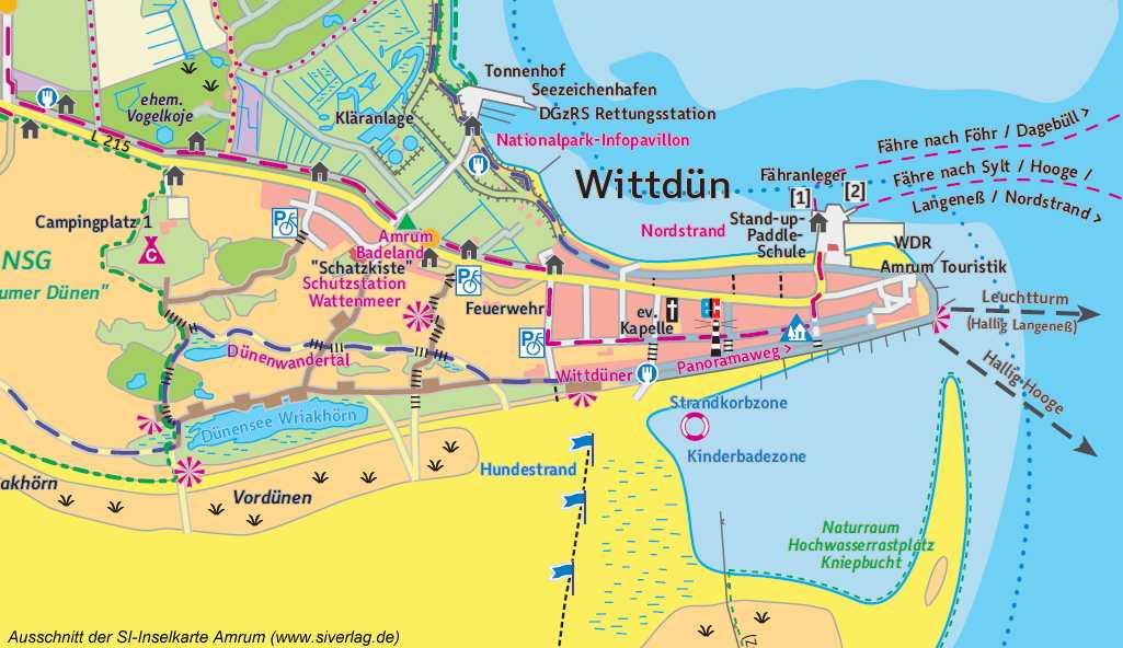 Karte Sylt Amrum.Der Wriakhörn See Im Südwesten Von Amrum